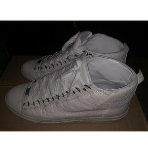Balenciaga Shoes - White leather Balenciaga Men's Arena size 9